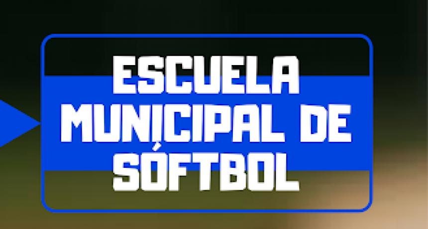 Inscripciones para la Escuela Municipal de Softbol