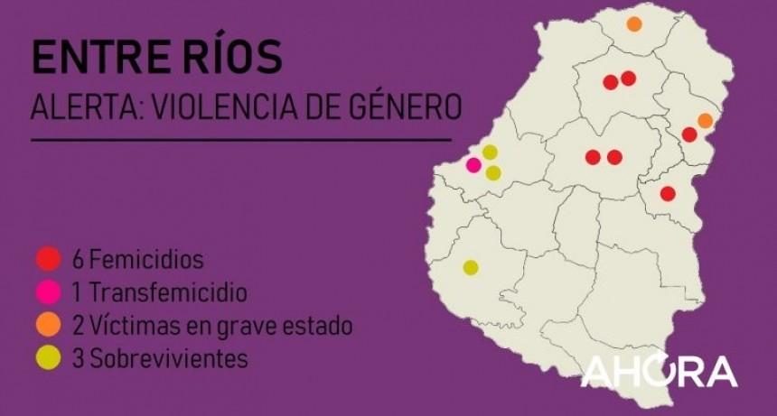 Las 12 víctimas de la peor violencia de género en lo que va de 2019 en Entre Ríos