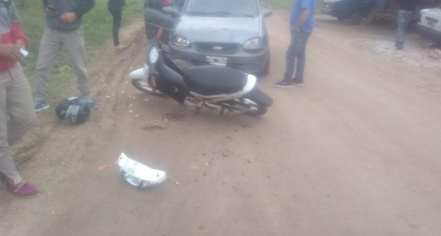 Accidente de transito en calle San Martin y Echague