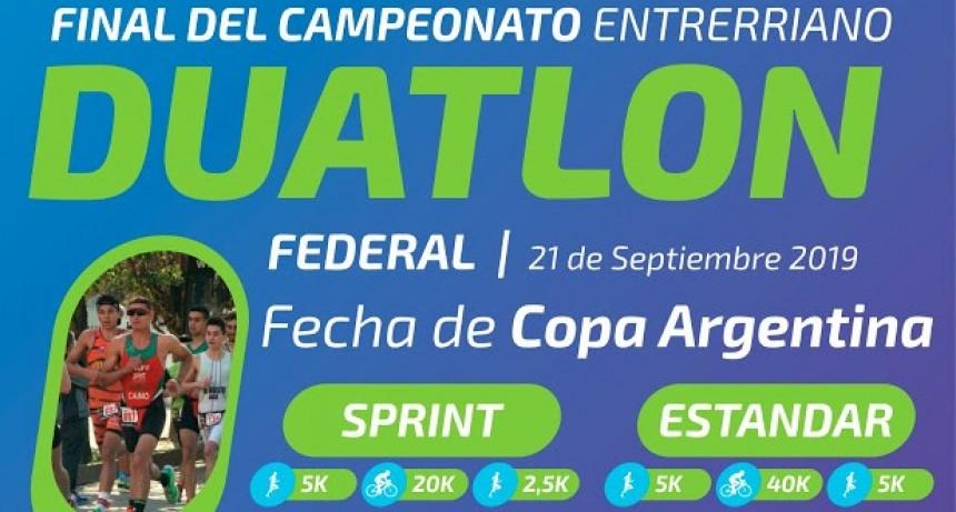En Federal se corre la Final del Campeonato Entrerriano de Duatlon
