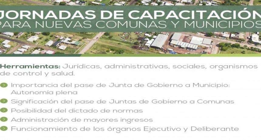 Comienzan las capacitaciones para autoridades de las nuevas comunas y municipios. El 20 de septiembre en Federal