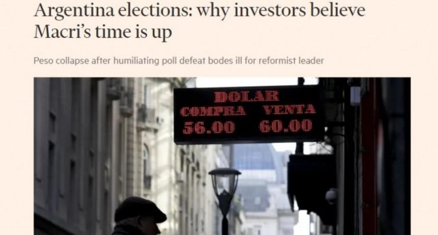 Financial Times: los inversores piensan que el gobierno de Mauricio Macri terminó