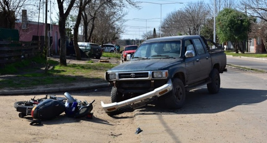 Accidente de transito en Boulevard Antelo y Entre Ríos