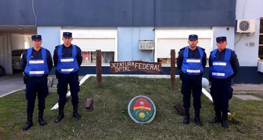 Cuatro nuevos Agentes integran la Jefatura Departamental de Policía