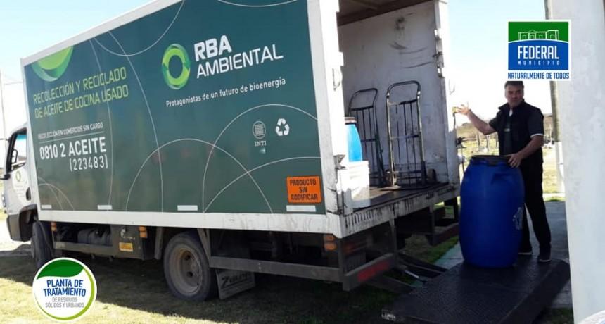 Envío de aceite vegetal para reciclar