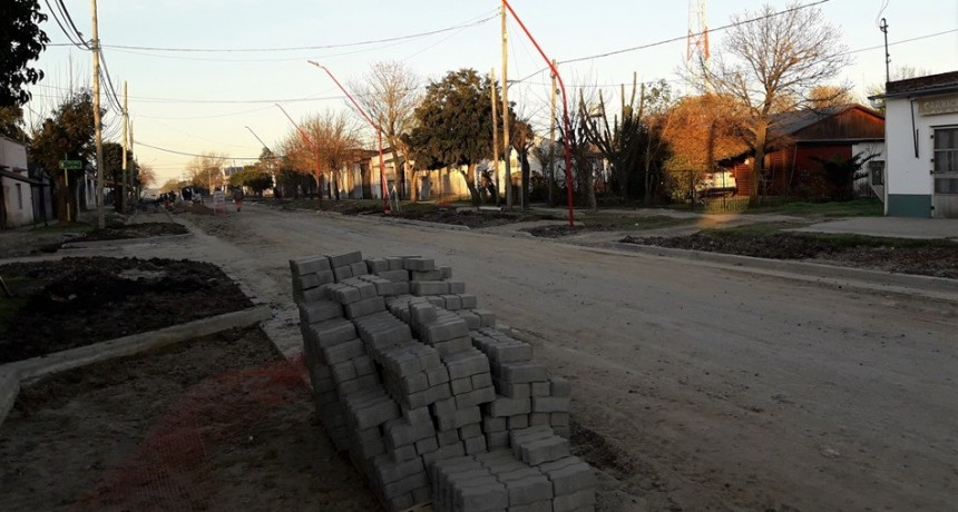 Avance de obras en calles de Sauce de Luna