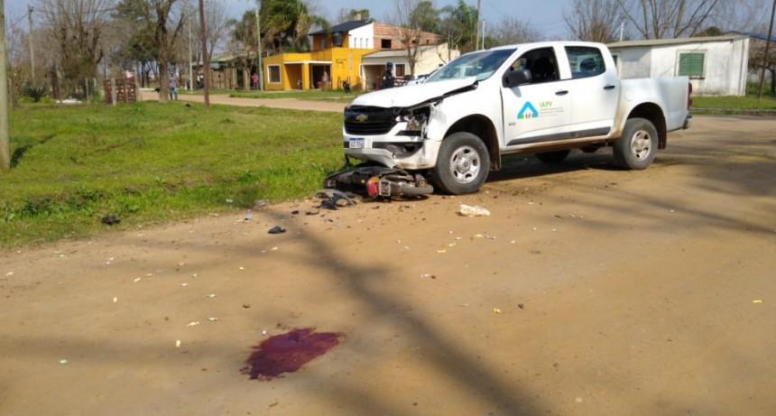 Accidente de transito con dos lesionados de consideración