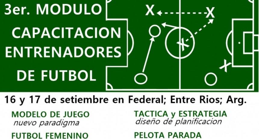 Se viene el 3° Modulo de Capacitación para Entrenadores de Futbol en Federal
