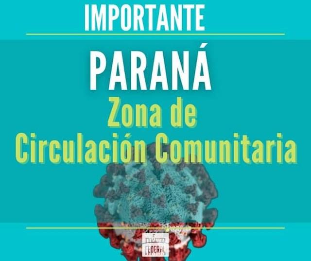 Federal : Personas que regresen de Parana deben cumplir con 14 días de aislamiento