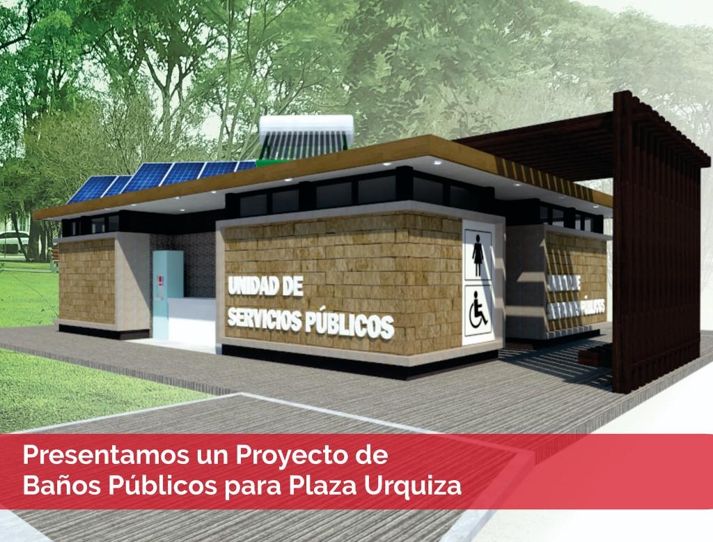 Presentaron proyecto de unidad de servicios sanitarios en Plaza Urquiza