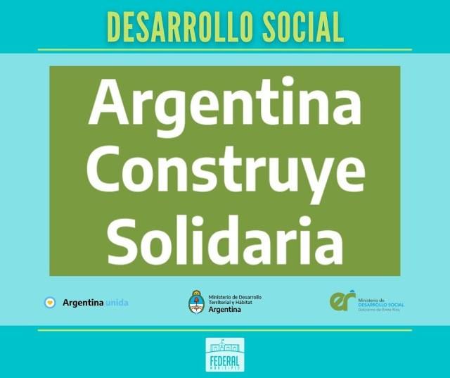 """La Secretaría Municipal de Desarrollo Social promueve y socializa el programa nacional """"Argentina Construye Solidaria"""""""