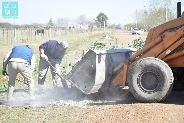 El Municipio de Federal avanza con la eliminación de microbasurales