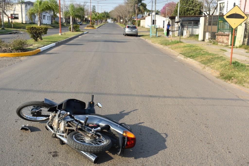 Siniestro vial, en calle Paraná y Cda. Ameghino