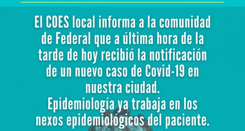Confirmaron un nuevo caso de Coronavirus en Federal