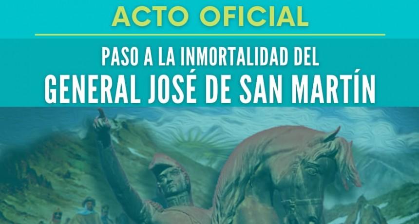 Acto oficial : Paso a la Inmortalidad del Libertador José De San Martín