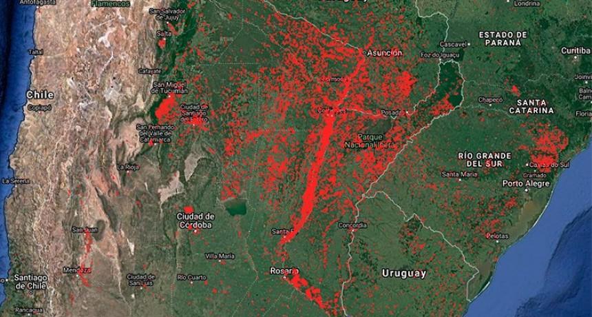 Ya son nueve las provincias argentinas con incendios activos en diferentes zonas