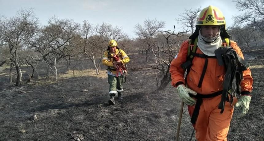 Incendio a 100 metros de Escuela N° 5