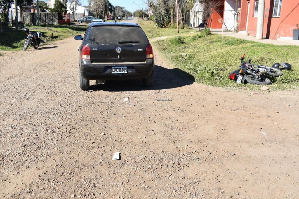 Accidente de Tránsito en intersección de calles Echagüe y 9 de Julio