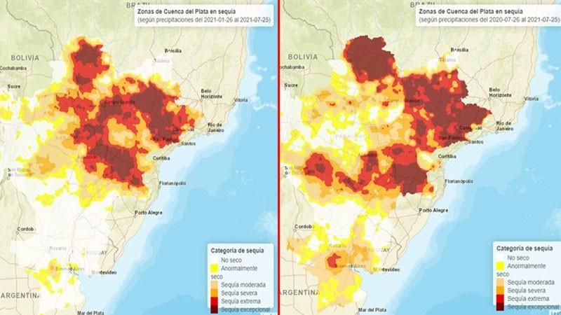 El 75 % del área de la cuenca del Paraná afectada por sequía: qué se pronostica
