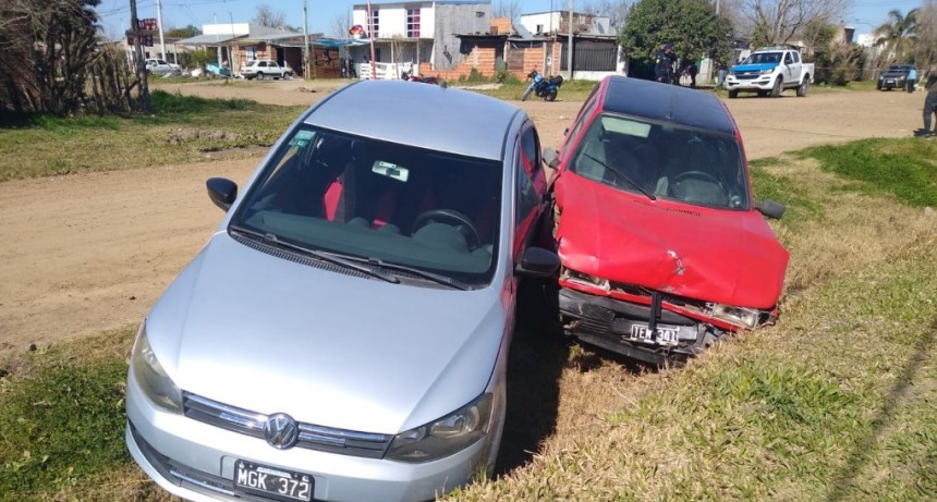 Siniestro Vial en intersección de calles Urquiza y Entre Ríos