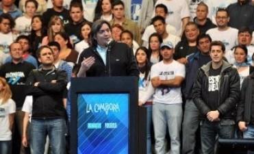 Acto de La Cámpora: Máximo Kirchner cuestionó a los medios de comunicación