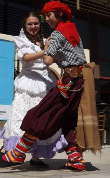 Pareja de baile de Federal  a los finales de los Juegos Evita