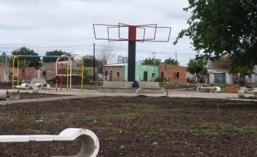 Avanza a buen ritmo el trabajo en la nueva plaza del barrio El Silvido