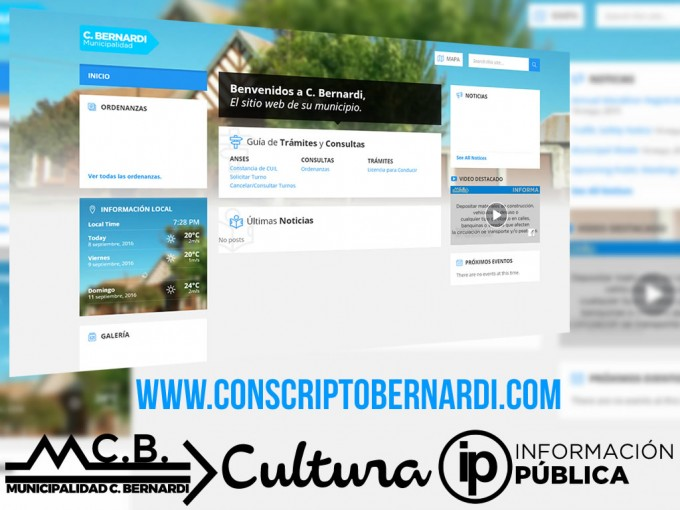 Se lanza el Sitio Web de Concripto Bernardi