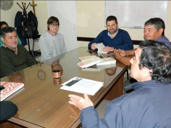 El Intendente recibió al Circulo de Escritores locales.