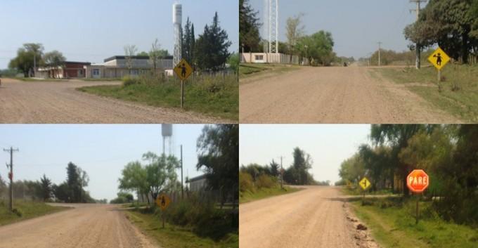 En la Ruta N 5 y N 20  los conductores no respetan los carteles indicadores
