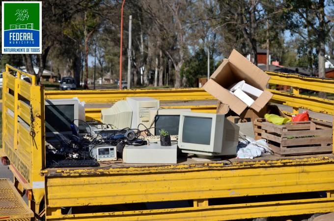 Este miércoles finaliza la campaña  de recolección de residuos eléctricos y electrónicos en Barrio 25 de Mayo