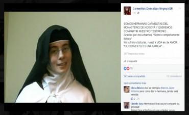 Carmelitas Descalzas se defendieron por Facebook