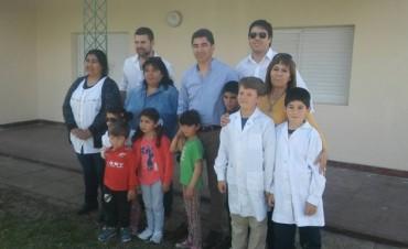 El Intendente Chapino acompaño el recorrido por las Escuelas del Departamento