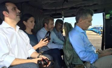 Desperfecto y susto de Macri al bajar de un helicóptero