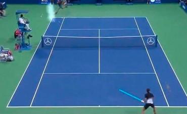 Victoria de DelPo: Videos del Martillo contra el Sable y la escondida de Federer