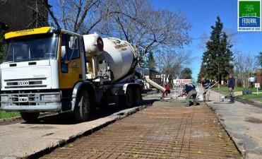Reconstrucción de calles en el Barrio Estación
