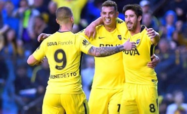 Boca jugó a lo campeón y no tuvo piedad de Godoy Cruz