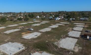 Federal : siguen los avances en la construcción de la 100 viviendas por emergencias hidricas