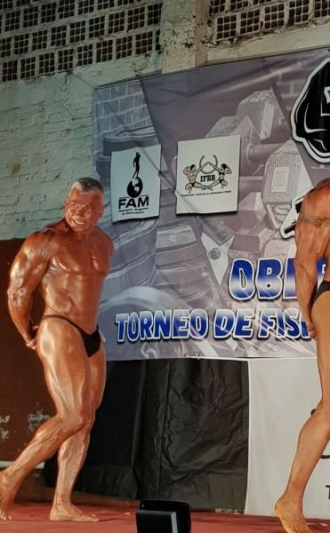 Daniel Sciortino en lo mas alto del podio en Torneo de Fisicoculturismo en Misiones