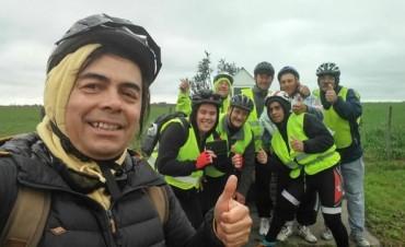 Cumplieron la meta de pedalear desde Bernardi hasta San Nicolás