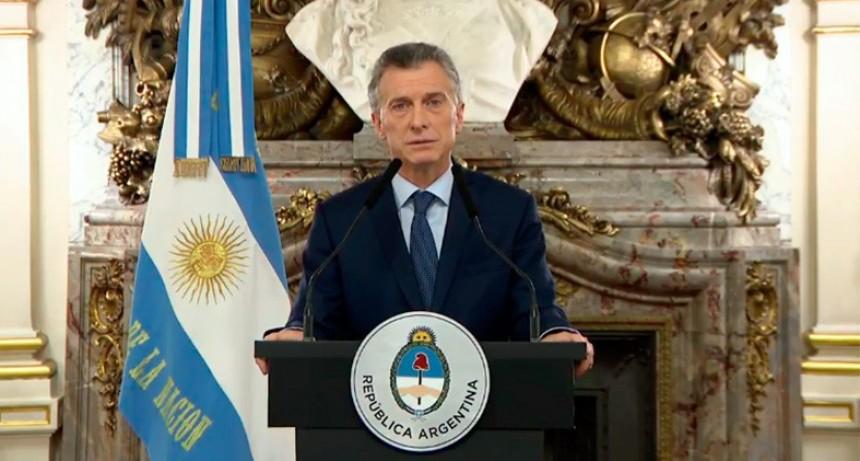 Macri anunció mayores impuestos a las exportaciones y reducción de ministerios