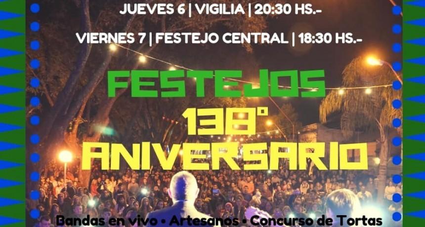 HOY COMIENZAN LOS FESTEJOS POR EL 138° ANIVERSARIO DE LA CIUDAD
