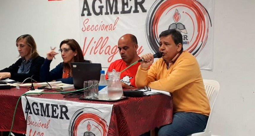 El Congreso de AGMER decidió adherir al paro nacional