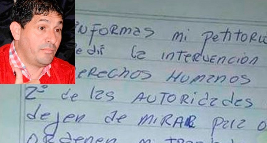 Daniel Celis inició huelga de hambre y pidió la intervención de Derechos Humanos
