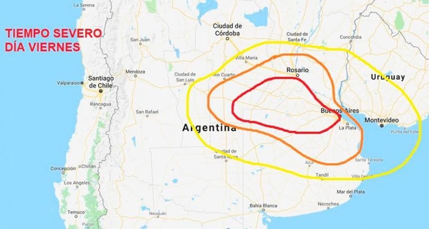 Tres alertas por lluvias y tormentas severas: Uno afecta a parte de Entre Ríos
