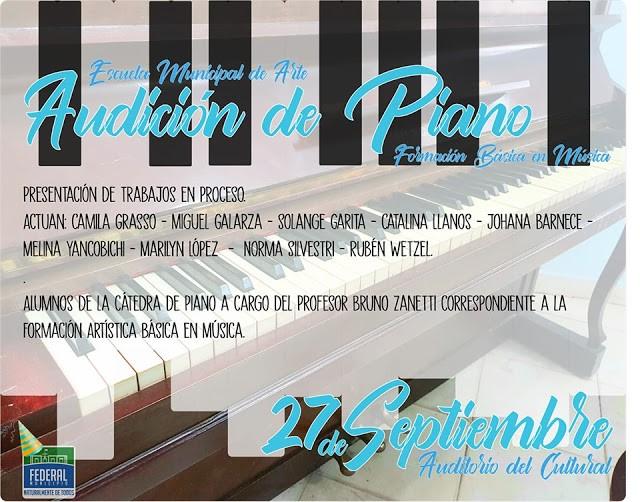 """Muestra  """"Audición de Piano. Formación Básica en Música"""""""