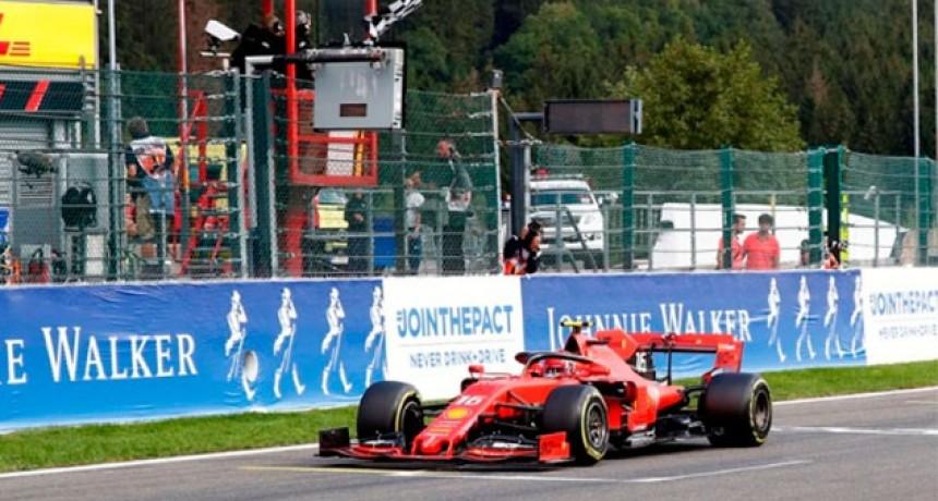 Fórmula 1 en Bélgica: Primer festejo de Charles Leclerc con Ferrari