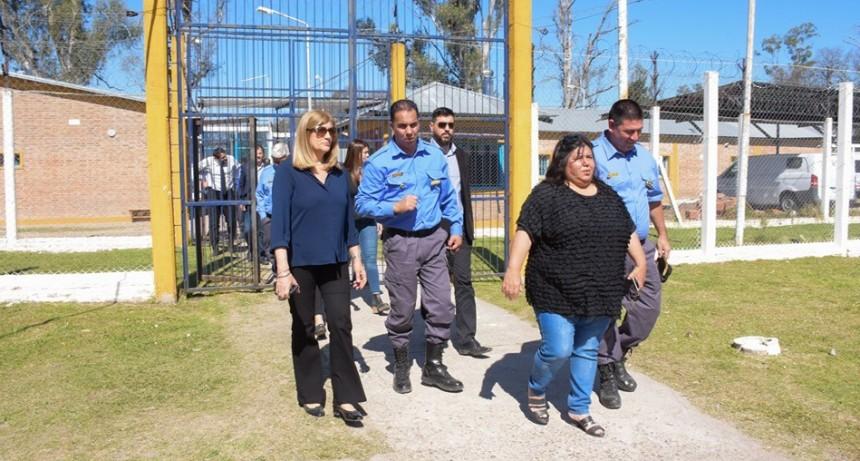 La Ministra de Gobierno de Entre Ríos recorrió las instalaciones de la Unidad Penal N 8