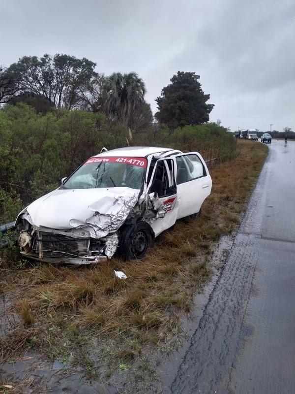 Accidente de tránsito en Ruta N° 22, en la zona Arroyo Las Chilcas