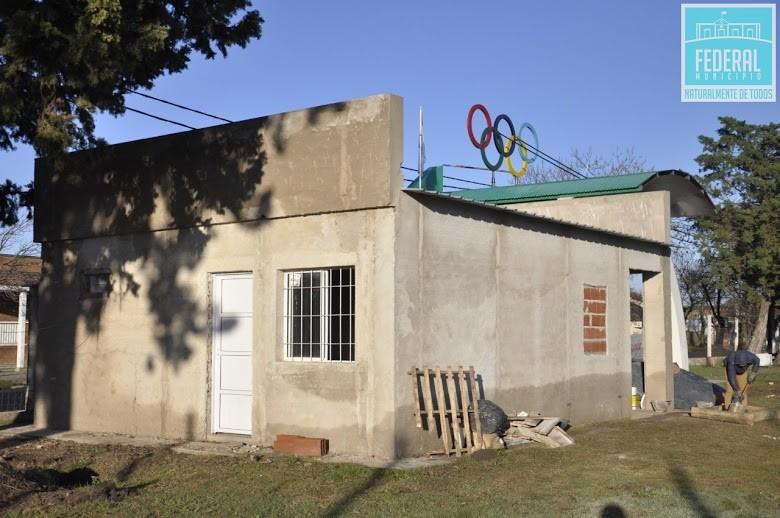 Construcción de la nueva oficina de la Dirección de Deportes
